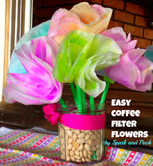 An Easy Coffee Filter Flower Craft For Toddlers