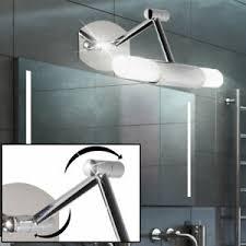 details zu design led wand glas strahler leuchte bade zimmer spiegel le schwenkbar