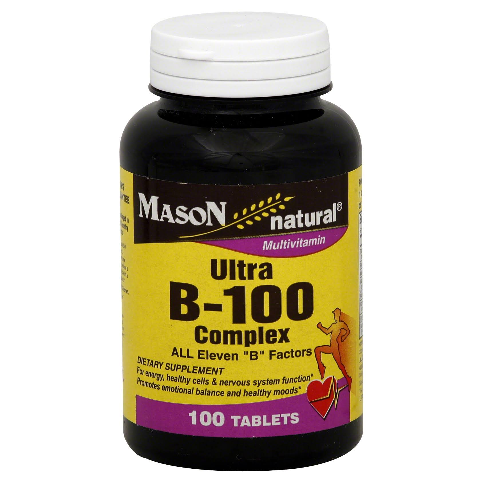 Mason Natural Ultra B-100 Complex Dietary Supplement - 100ct