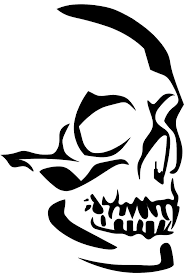 Easy Zombie Pumpkin Stencils by Best 20 Skull Stencil Ideas On Pinterest Skull Silhouette Cool