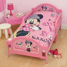 Amusing Small Bedroom Set For Toddler With Minnie Mouse Bed White Stool And Tiny Desk
