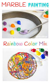 Colors Arts And Crafts Preschool Rainbow Color Mix Marble Painting Mixing Create Cr On Letter