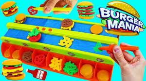 BURGER MAKER GAME Burger Mania Board Game Challenge For Kids McDonalds Happy Meal Cash Register