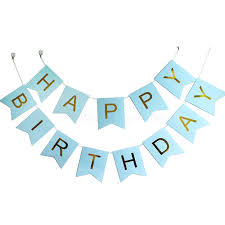 Gold Foiled HAPPY BIRTHDAY Lettering on Light Blue Cards Misty
