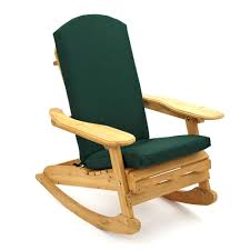 Adirondack Bowland Patio Rocking Chair With Dark Green Luxury Cushion