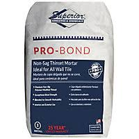 Tile Redi Niche Thinset by Superior Pro Bond Thinset Mortar White 50 Lbs The Tile Shop