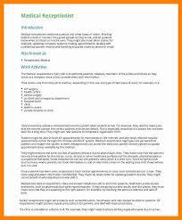 Dental Front Desk Receptionist Resume by Sample Medical Receptionist Resume Reception Resume Samples
