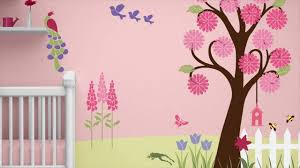 Butterfly Wall Decor Target by Wall Decoration With Flowers For Kids Rooms Youtube