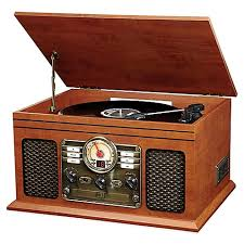 victrola wooden 6 in 1 nostalgic 3 speed turntable with bluetooth