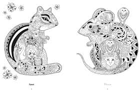 Amazon Color Yourself To Calmness And Reduce Stress With These Animal Motifs Adult Coloring Books 9781782493242 CICO