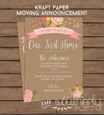 Moving Announcement Printable First Homerhetsycom Kraft Our Home Paper