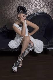 100 John De Oliveira Viktoria Modesta Wearing The Stereo Leg Created By Sophie De