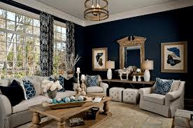 Transitional Living Room Sofa by Blue Living Room Ideas