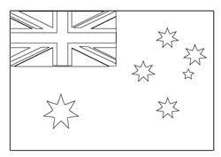 Flag Of Australia Colouring Sheet
