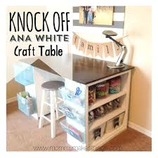 Under Desk Filing Cabinet Australia by Craft Desk With Storage Diy Craft Desk With Storage Craft Table
