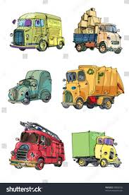 100 Trucks Cartoon Vintage Stock Vector Royalty Free 98803235