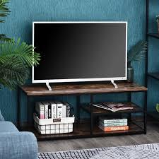 homcom tv schrank lowboard tv regal im industrie design
