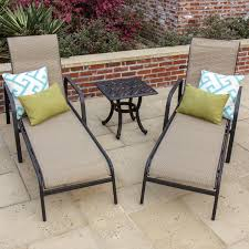 Madison Bay 2-Person Sling Patio Chaise Lounge Set With Cast ... Fniture Incredible Wrought Iron Chaise Lounge With Simple The Herve Collection All Welded Cast Alinum Double Landgrave Classics Woodard Outdoor Patio Porch Settee Exterior Cozy Wooden And Metal Material For Lowes Provance Summer China Nassau 3pc Set With End Nice Home Briarwood 400070 Cevedra Sheldon Walnut Cane Rolling Chair C 1876