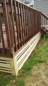 Metal Deck Skirting Ideas by Horizontal Deck Skirting Ideas How To Build A Floating Deck End