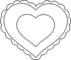 Heart Stencil Printable Valentines Day Coloring Pages Valentine Hearts Com Patterns Ideal