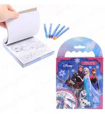 Disney Frozen Colouring Pad CRAYONS Stationery Kids Games Travel Activity Book