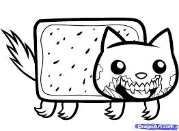 how to draw zombie nyan cat zombie nyan cat step 7