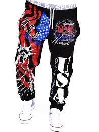 Beam Feet American Flag Statue Of Liberty Letters Print Hit Color Lace Up Mens Loose