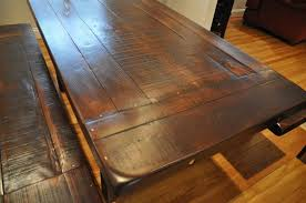 Make A Reclaimed Wood Desk by Dining Tables Farm Tables From Reclaimed Wood Rustic Solid Wood