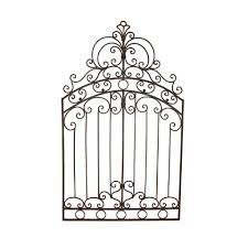 Metal Gate Wall Art
