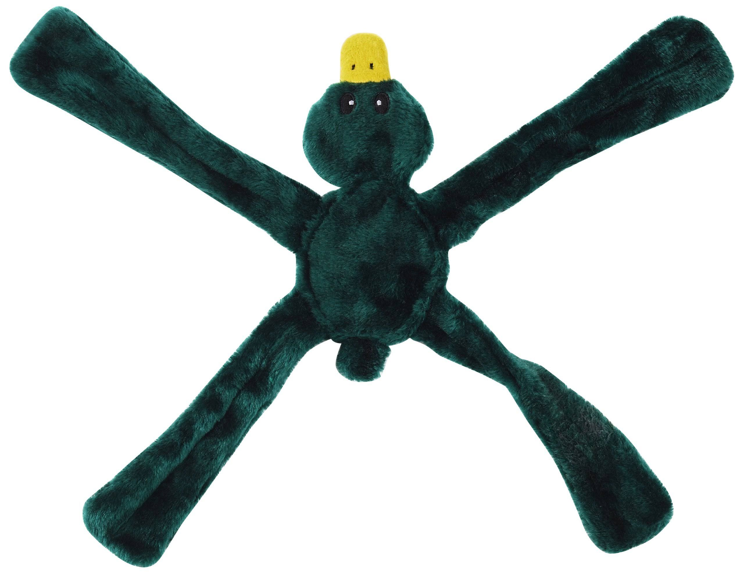 Doggles Plush Penta Dog Toy - Green, Bear