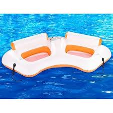siege de piscine gonflable fauteuil de piscine gonflable 2 places avec porte gobelets