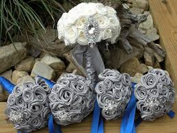 Inspiration Ideas Royal Blue And Silver Wedding Decorations With Bouquet Pinterest