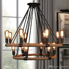 großhandel vintage seil pendelleuchten le loft kreative persönlichkeit industriele edison birne amerikanischen stil für wohnzimmer dekoration