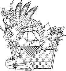 Vegetable Basket Coloring Page