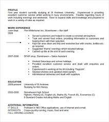 Student CV Template Free