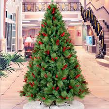 New Year Christmas 21M 24M Red Berries Mixed Pine Needles Pinecone Tree