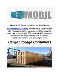 100 Cargo Containers For Sale California Calamo Mobil Container Solutions Storage