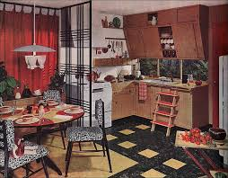 This Armstrong Kitchen Ad Appeared In American Home 1952 Lots Of Bright Red And