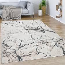 teppich esszimmer vintage moderne marmor optik