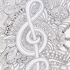 Stupendous Music Coloring Pages 54 Best Images On Pinterest