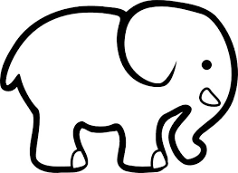 Print And Cut Out Images From Coloring Pages To Create Your Own Custom Art This Elephant Can Easily Be Placed On Colored Paper Or