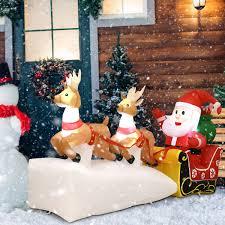 Lighted Mini Christmas Trees Porch Entryway Decor