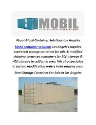 100 Cargo Containers For Sale California Calamo Mobil Container Solutions Cheap Storage