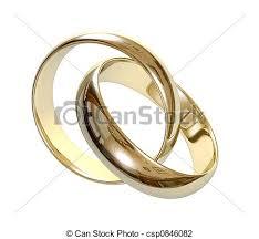 Wedding Rings 3d Stock Illustration