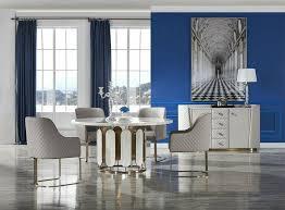 luxus esszimmer möbel marmor tisch kommode garnitur gruppe 6tlg