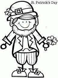 Online Leprechaun Coloring Page 93 About Remodel Seasonal Colouring Pages With