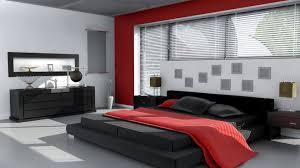 Interior Design Black Grey Red Bedroom