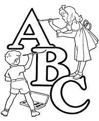 ABC Alphabet For Coloring Pages