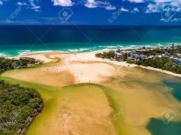 100 Currimundi Beach Aerial Drone View Of Beach And Lake Caloundra Sunshine