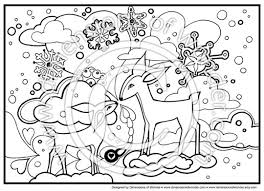Christmas Coloring Pages Printables Winter Wonderland Fairy Tale Animals Snow